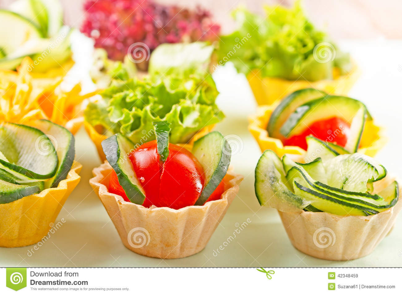 Vegetable canapes stock photo image 42348459 for Vegetarian canape