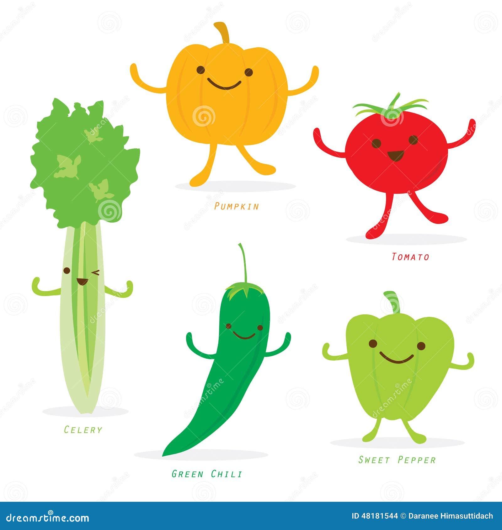Cute Vegetables Cartoon Wallpaper Cutey Cubes