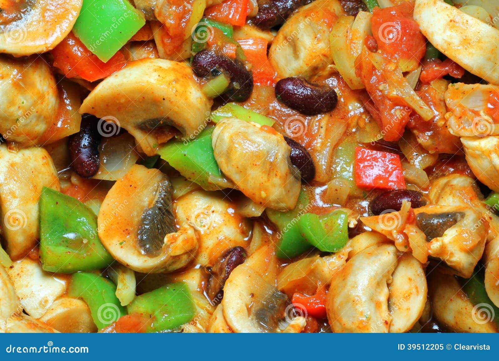 Vegetable chilli background.