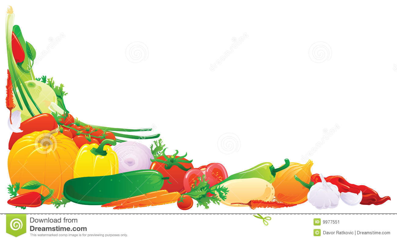 Vegetable Corner Stock Vector Image Of Color Border
