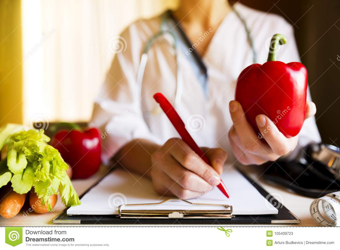 Vegetable diet nutrition and medication concept. Nutritionist of