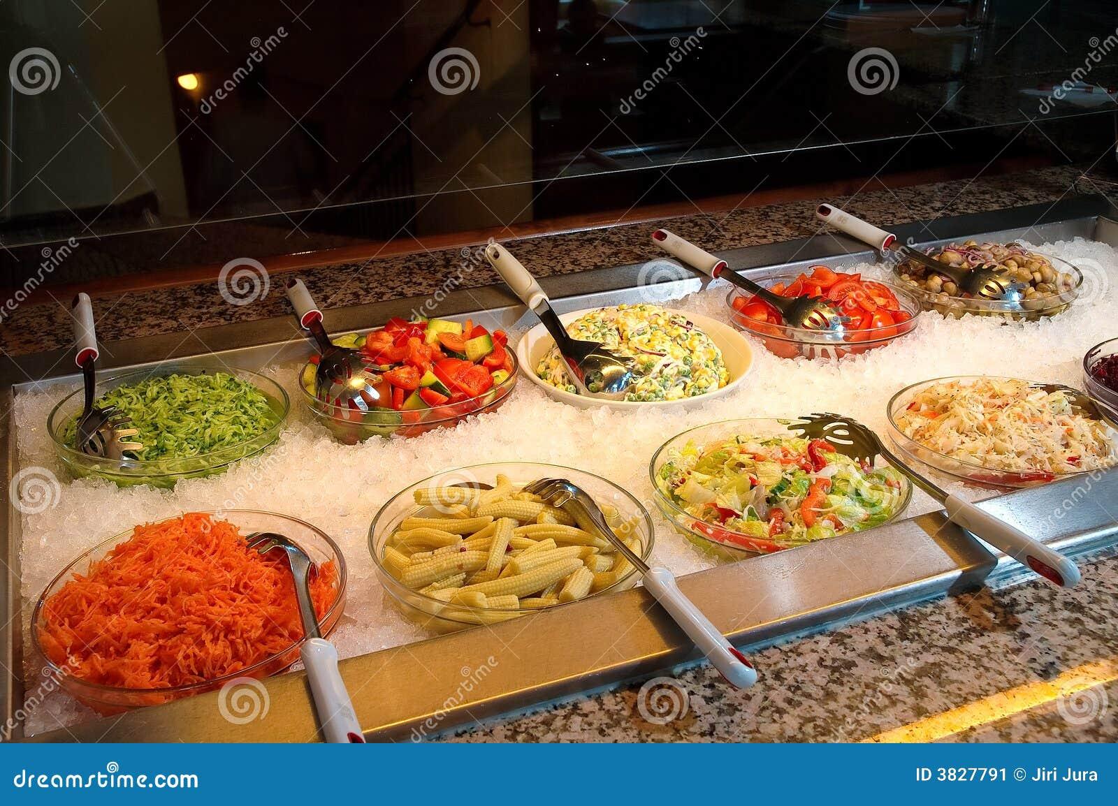 Vegetable fresh restaurant food stock image image of for Food bar in restaurant
