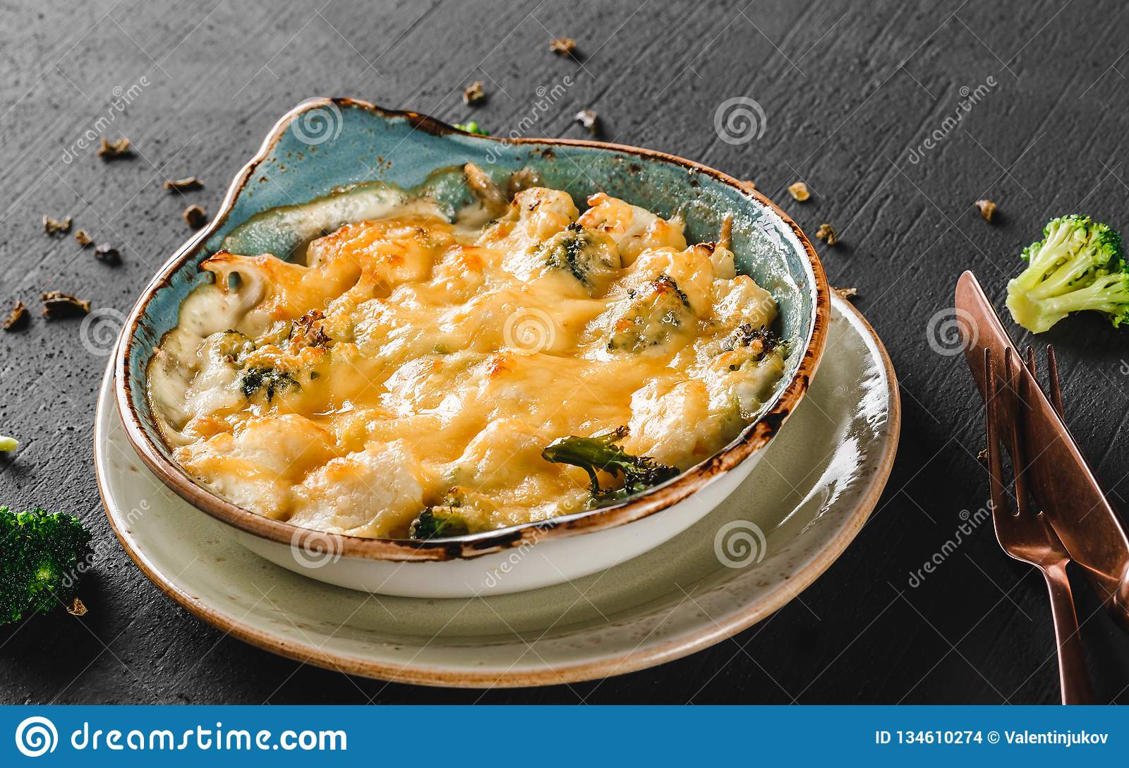 Vegetable Frittata With Potato Broccoli Cheese In Plate Over Dark Background Healthy Vegan Food Clean Eating Stock Photo Image Of Lunch Cheddar 134610274