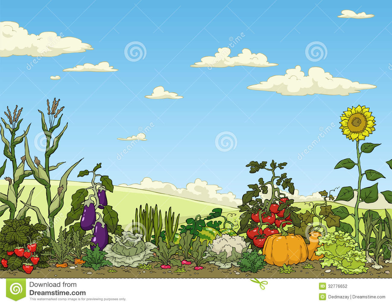 Vegetable Garden Bed Royalty Free Stock Photo - Image: 32776665