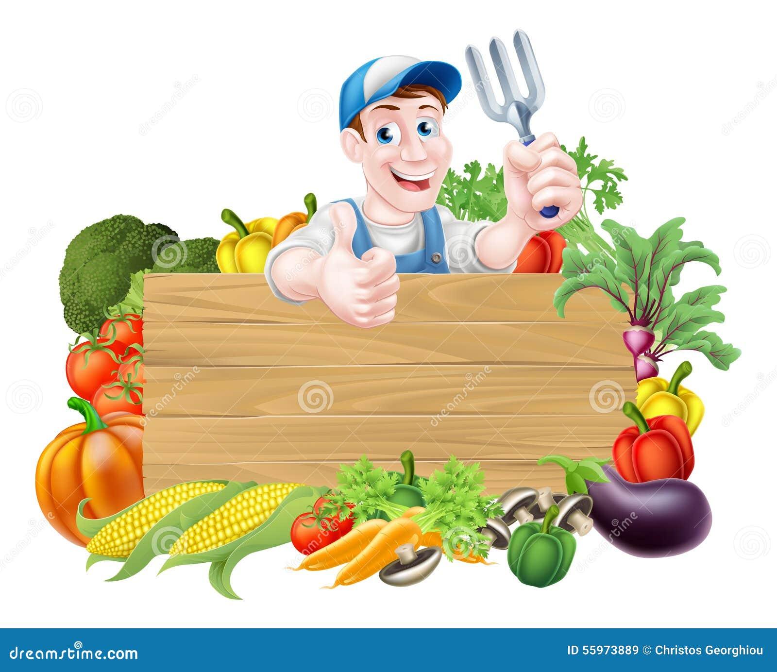 Vegetable Gardener Sign Stock Vector Image 55973889
