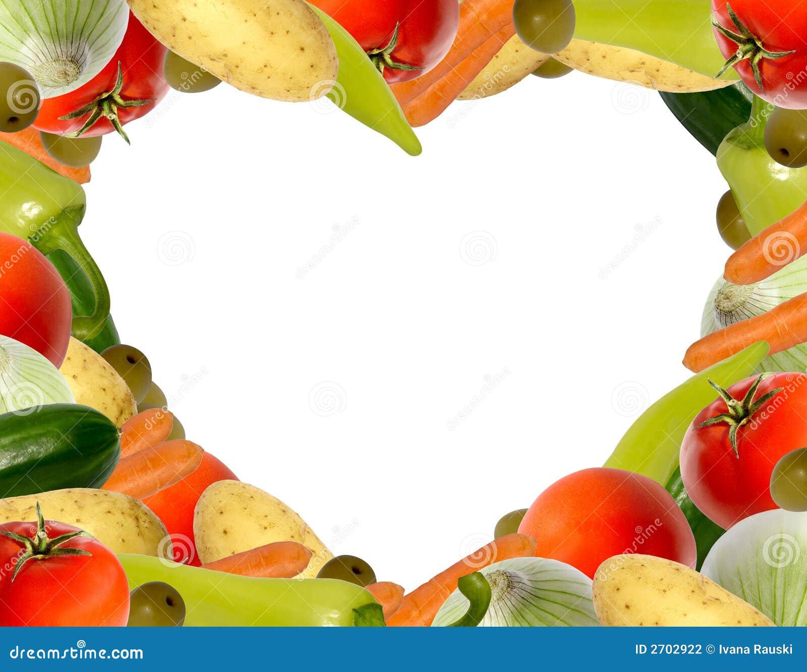 vegetable heartshaped frame stock photo image 2702922