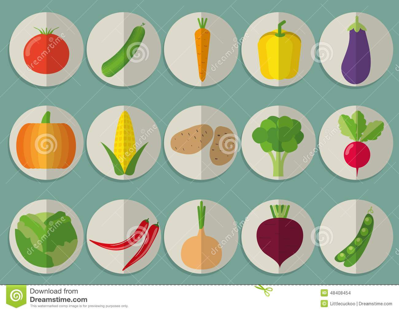 vegetable icon set the image of vegetables symbol cartoon