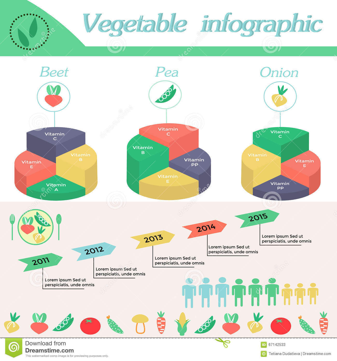 Vegetable infographic template for cycling diagram stock vector download comp ccuart Images