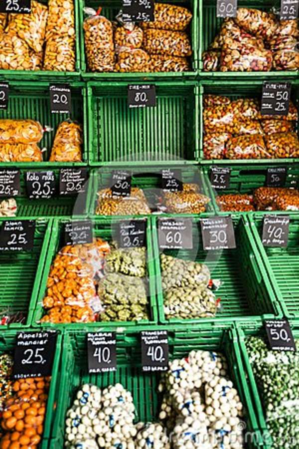 Vegetable Market In Oslo, Norway  Stock Photo - Image of