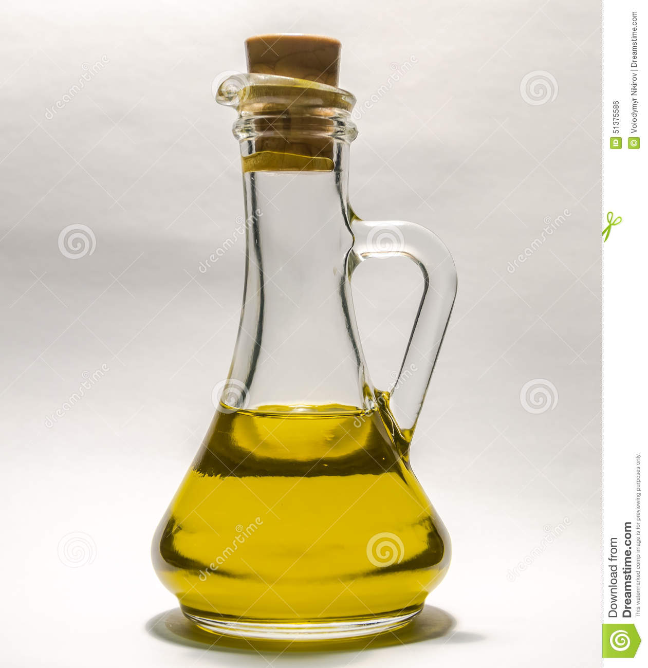 vegetable oil in a transparent bottle decanter with stopper on a white background stock photo. Black Bedroom Furniture Sets. Home Design Ideas