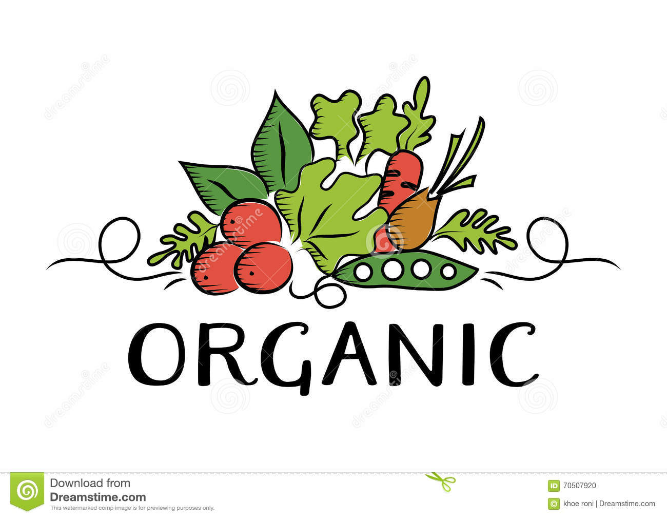 vegetable and organic logo stock vector image of tomato