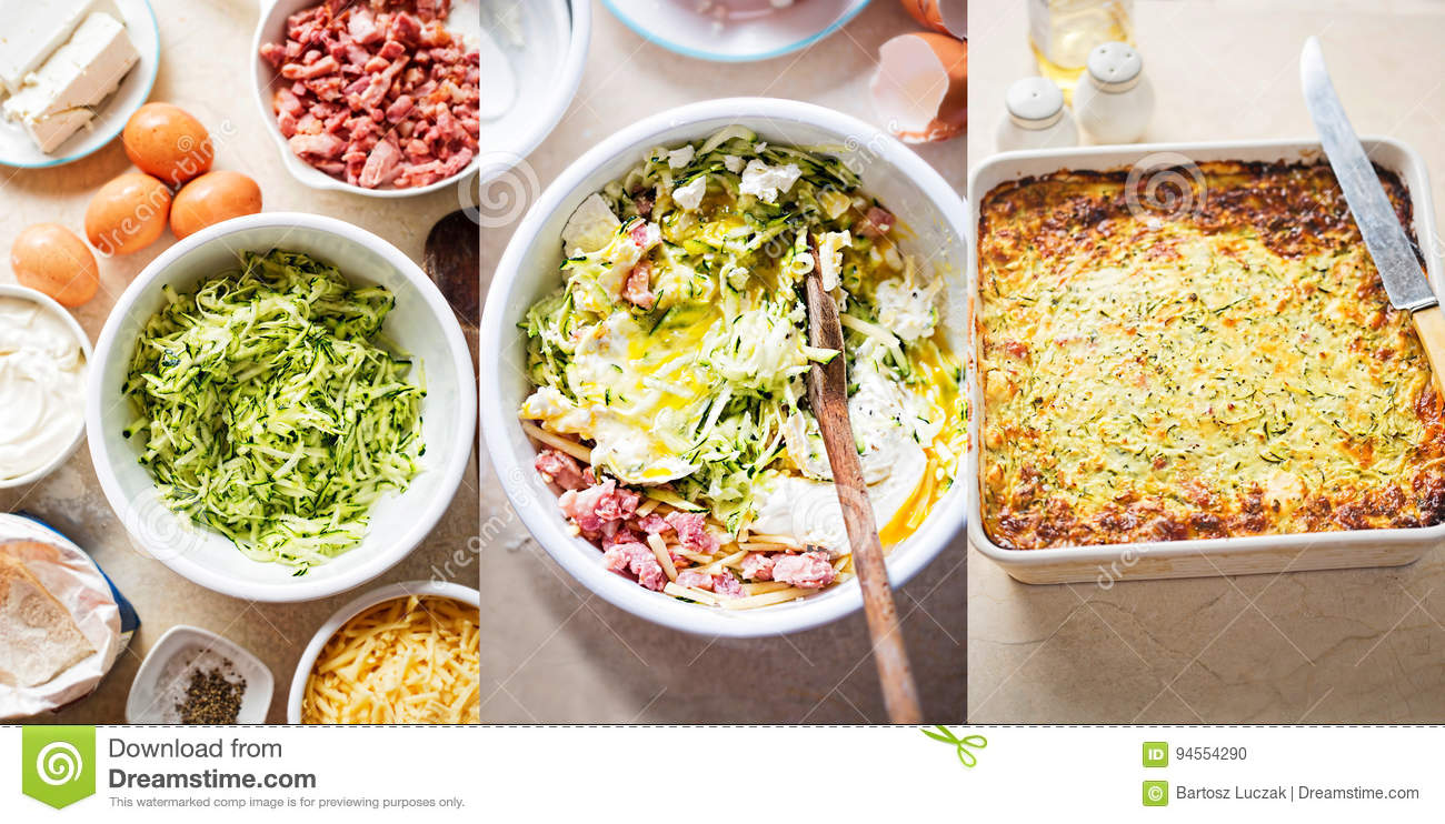 Vegetable Quiche Step By Step Instructions Stock Photo Image Of