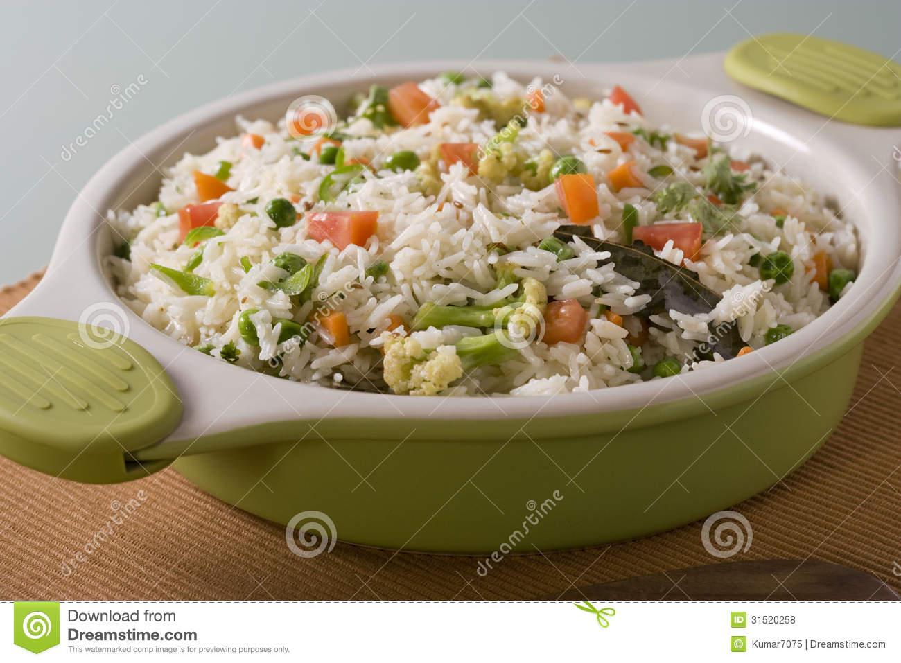 Vegetable Rice Or Indian Vegetable Biryani Royalty Free Stock Photos ...