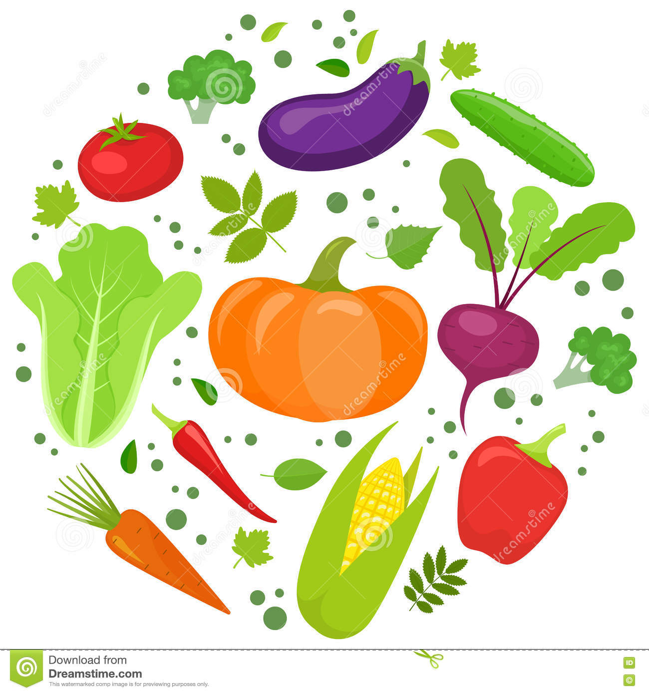 vegetable round template stock vector illustration of menu 75179139