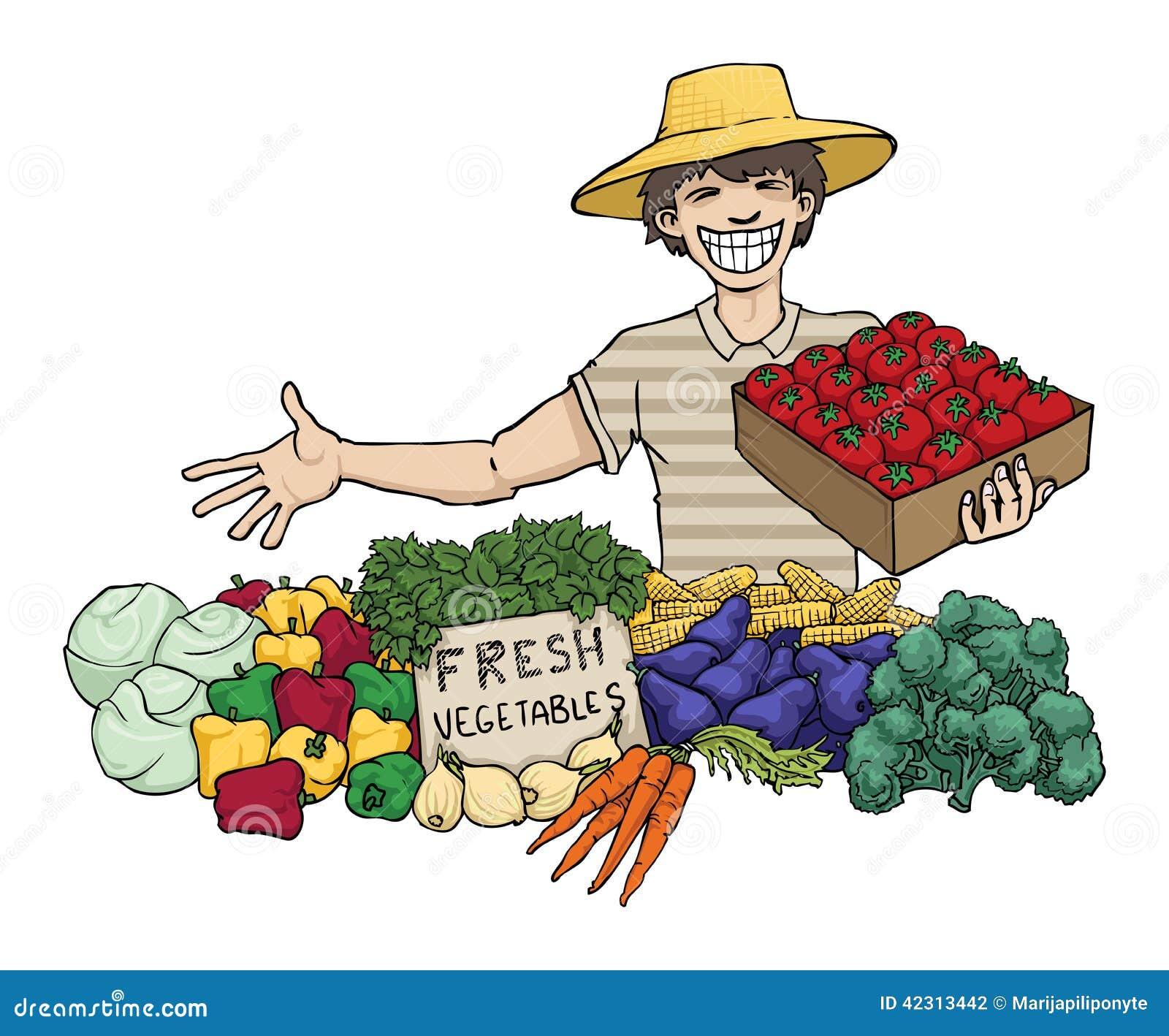 Vegetable Seller Stock Illustrations 512 Vegetable Seller Stock