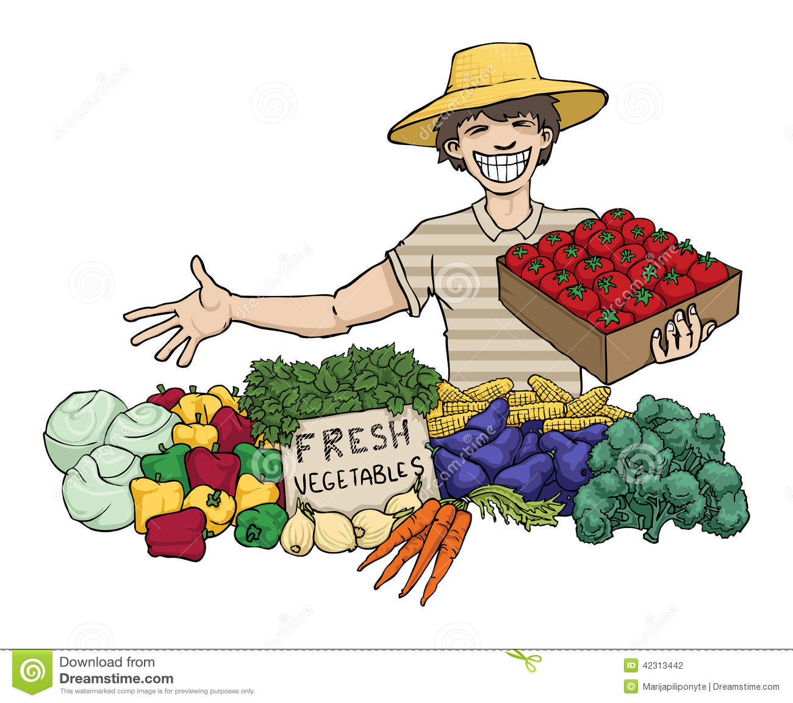 Vegetable seller stock illustration illustration of for How to sell drawings online