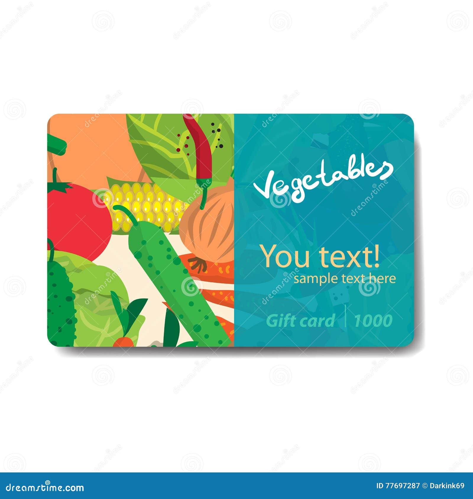 Vegetable Shop. Sale Discount Gift Card. Branding Design Stock ...