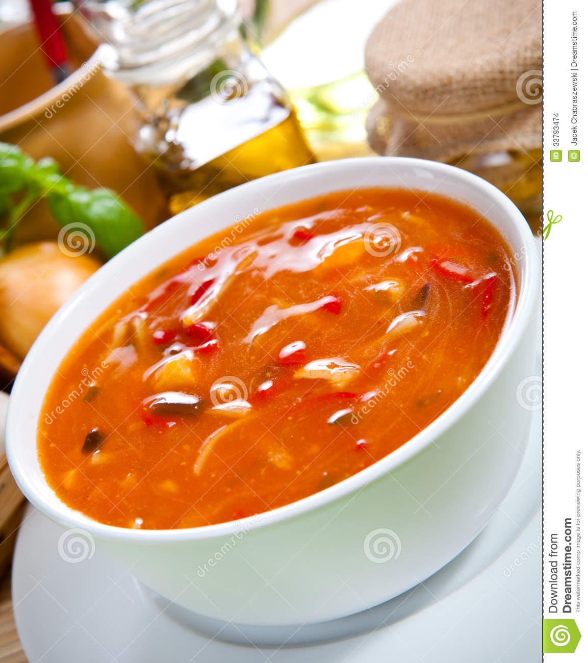 Mine the Calories in spicy asian vegetable soup
