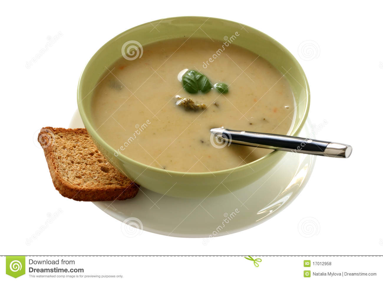 Vegetable Soup With Basil Royalty Free Stock Photos - Image: 17012958