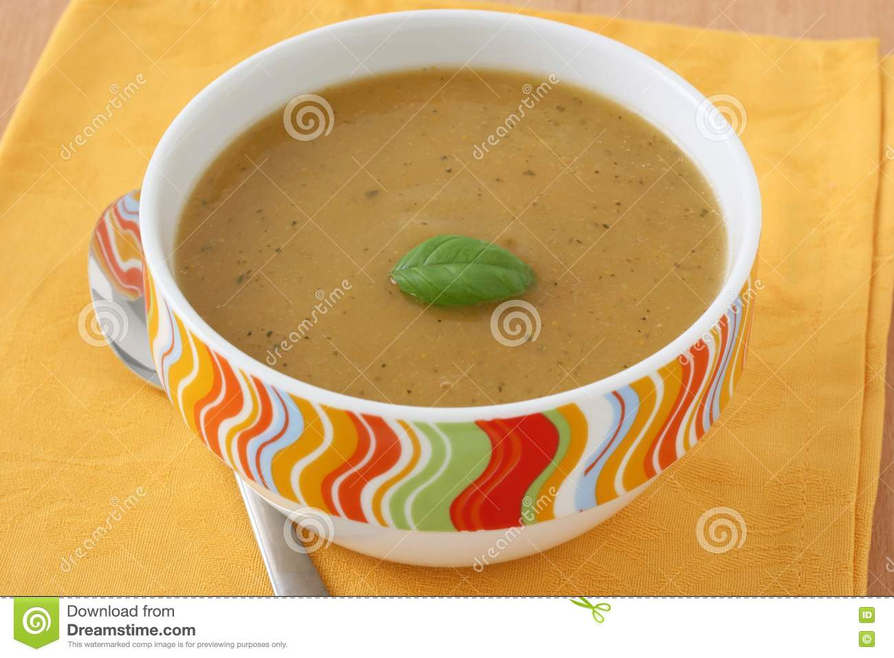 Vegetable Soup With Basil Royalty Free Stock Photo - Image: 19466405