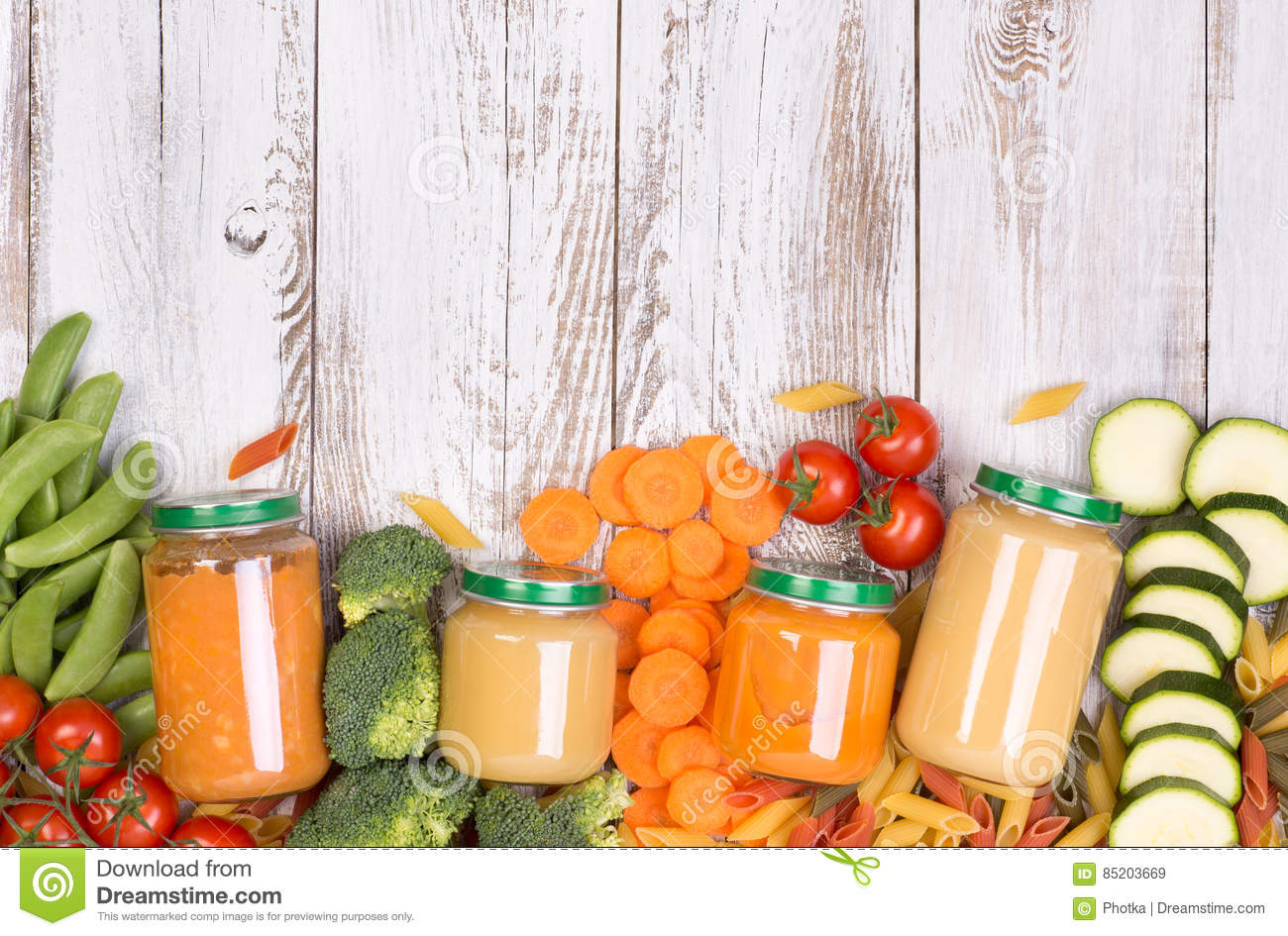Vegetable soups for a baby