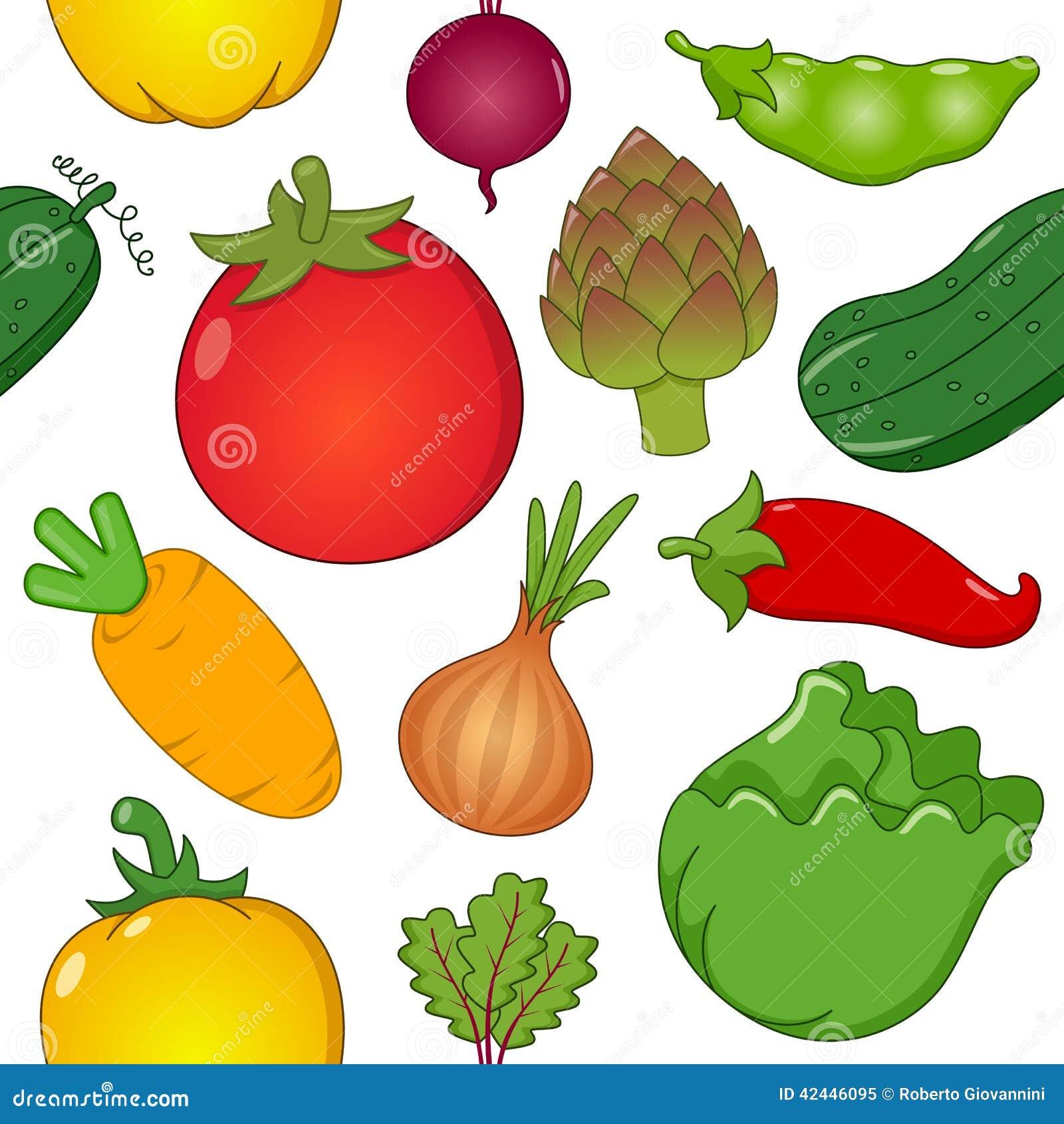Red Onion Illustration Vegetable Symbols Seam...