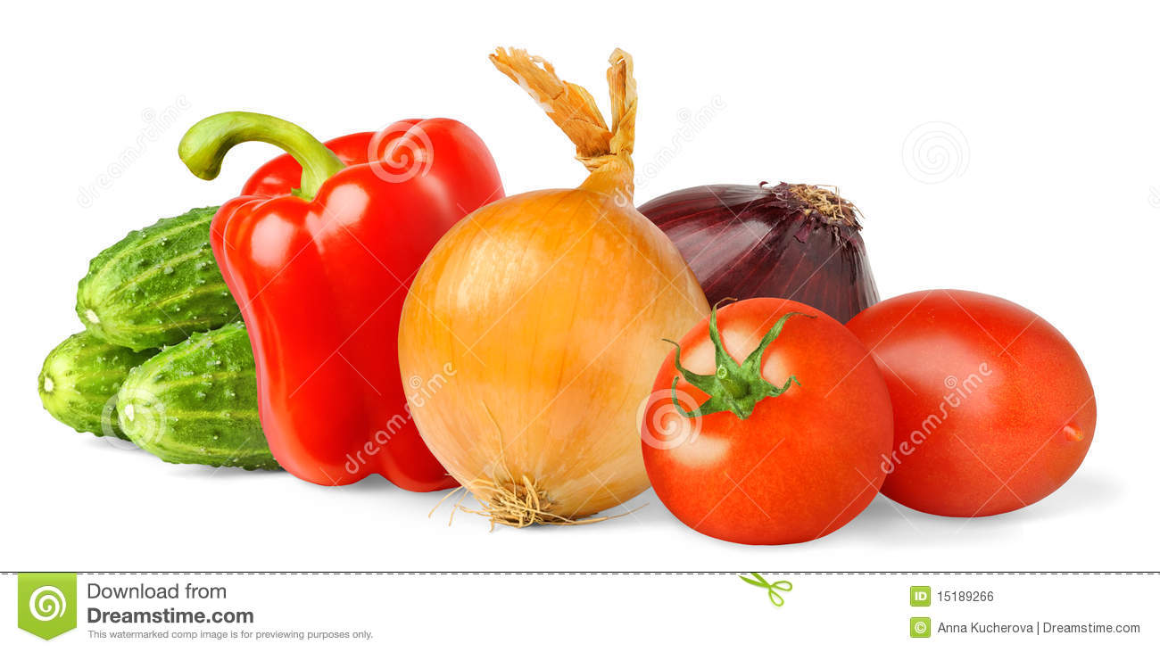 Isolated vegetables stock photo. Image of green ...