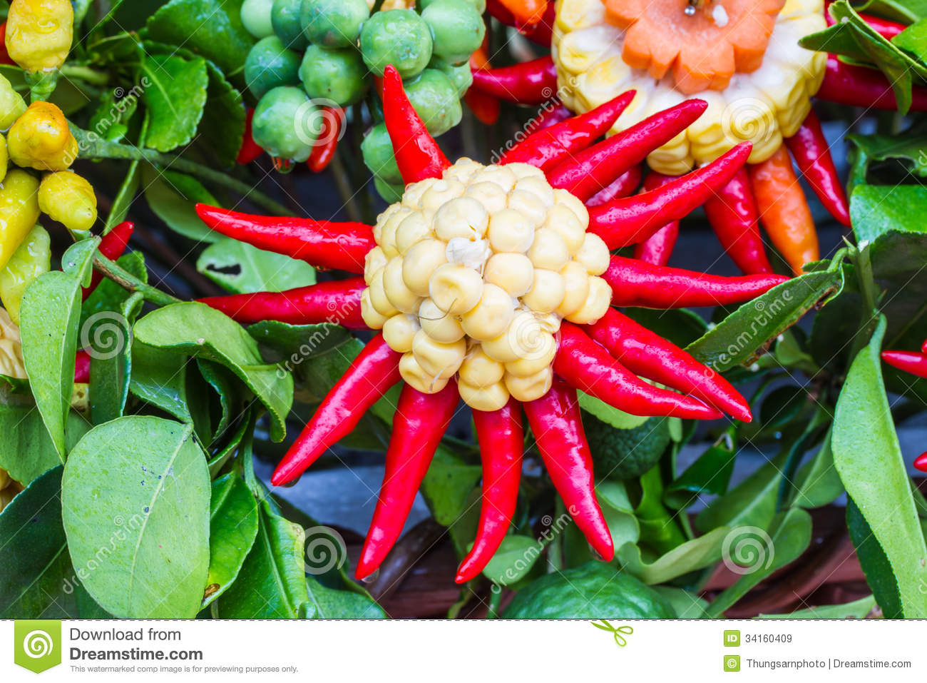 Vegetables Arranged As Flowers Royalty Free Stock Images