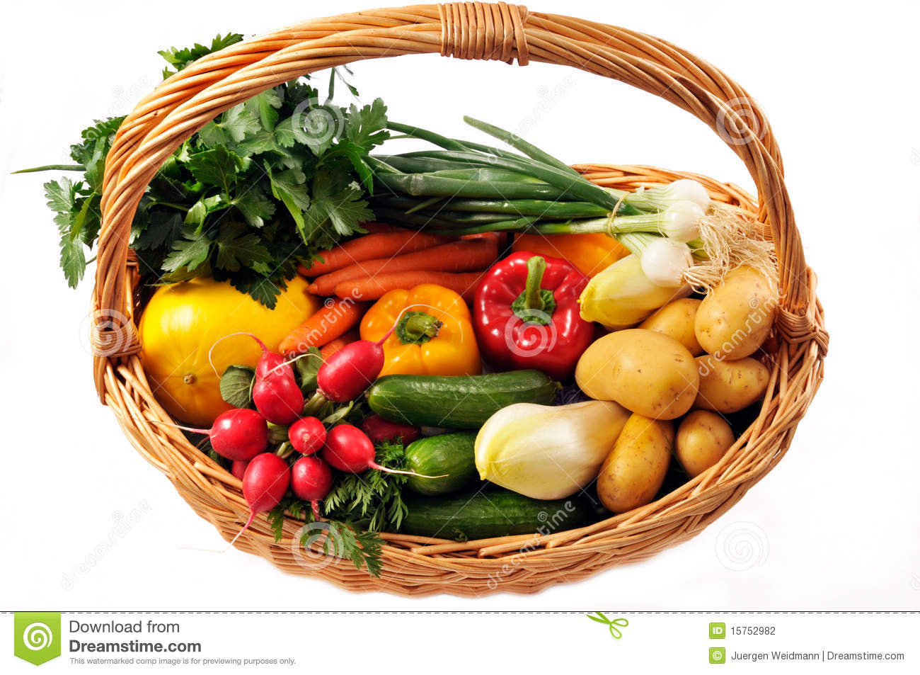 Royalty Free Stock Photo. Download Vegetables Basket ...