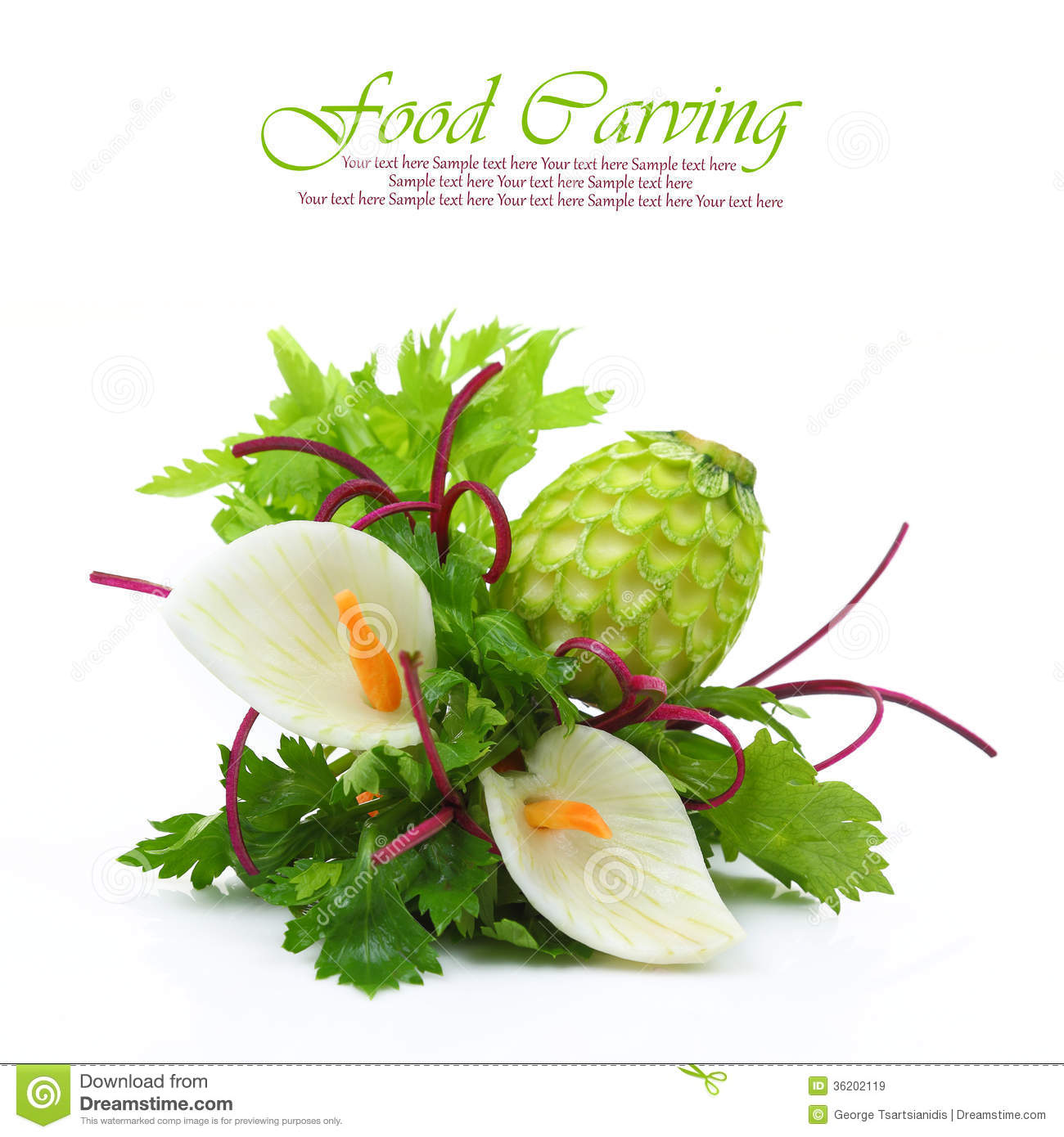 Vegetables carving stock image of gourmet chef