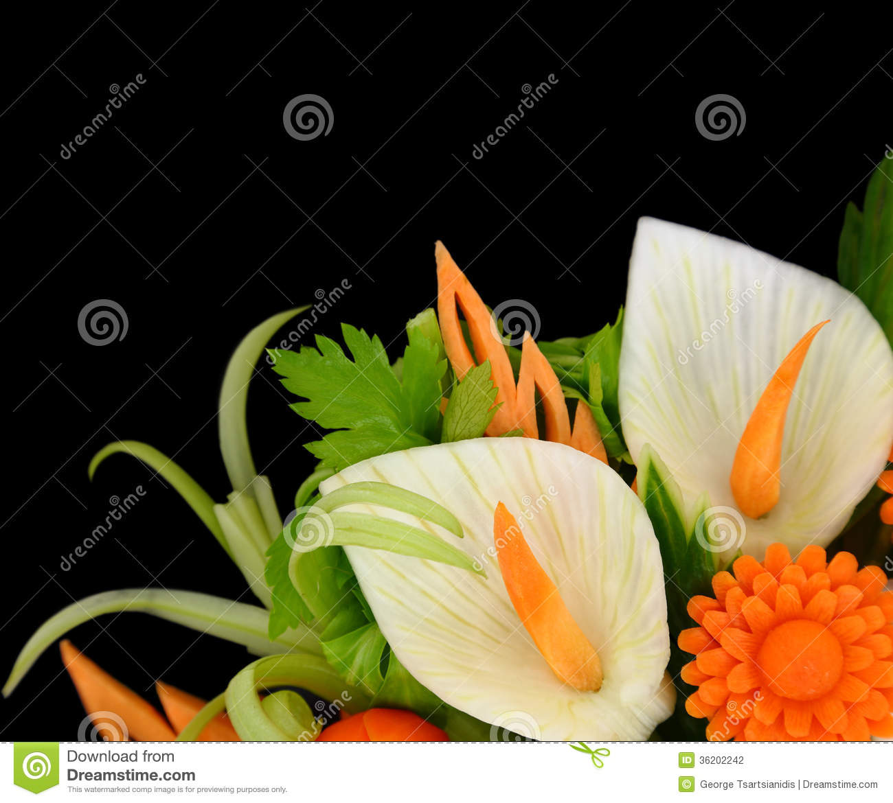 Vegetables Carving Stock Photography