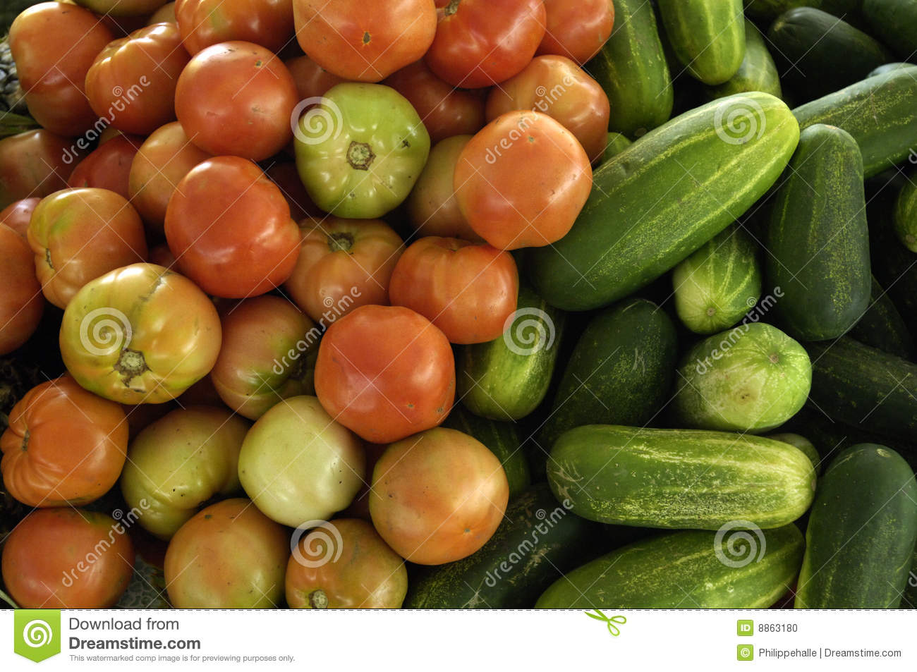 Vegetables at a creole market