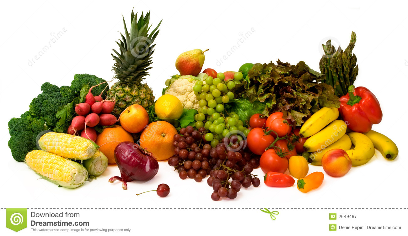 Vegetables And Fruits Royalty Free Stock Photography Image 2649467