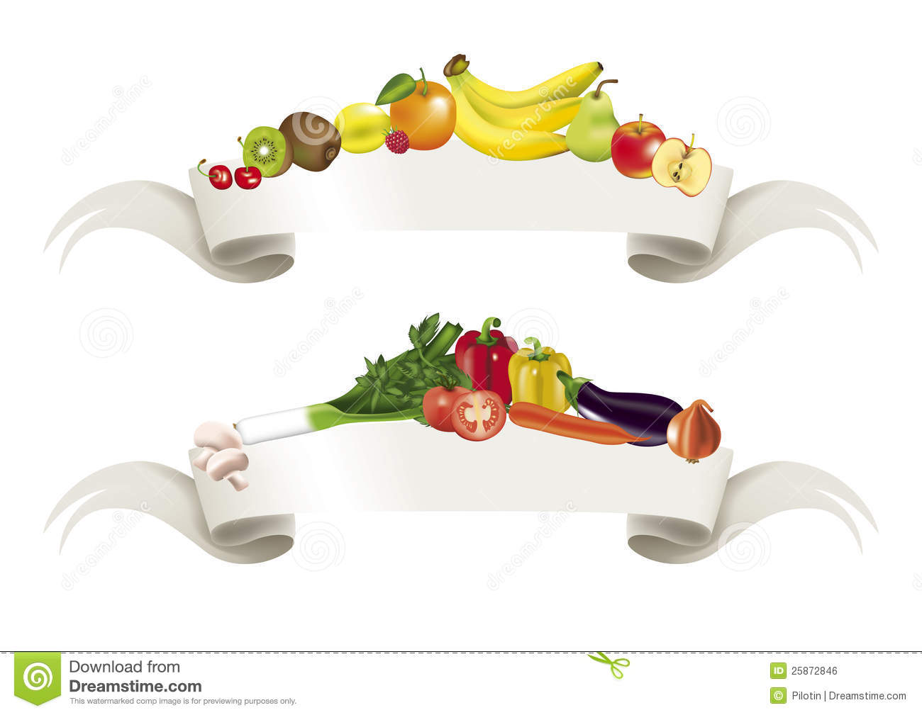 Vegetables Fruits Banner Royalty Free Stock Image - Image ...