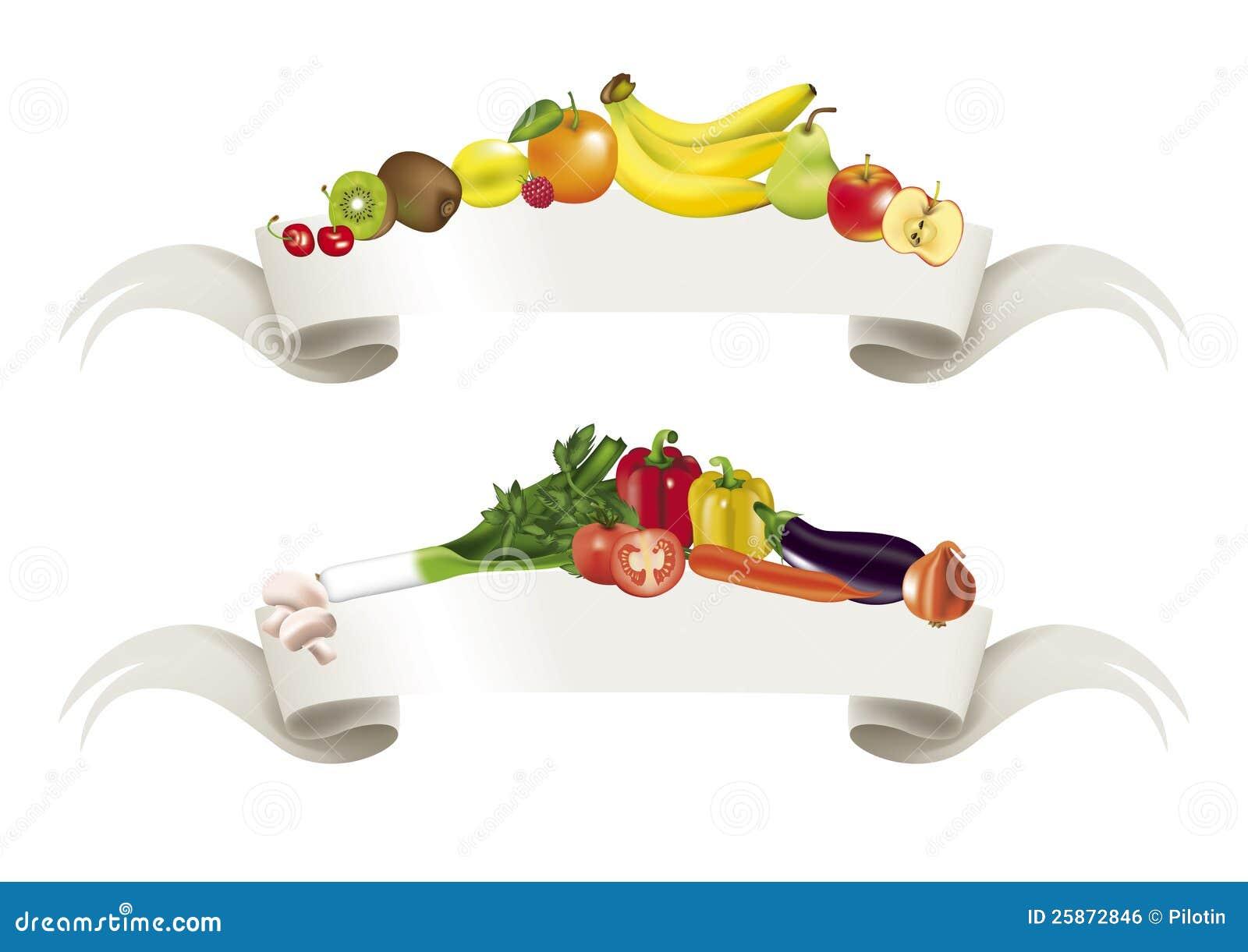 Vegetables Fruits Banner Royalty Free Stock Image - Image ...