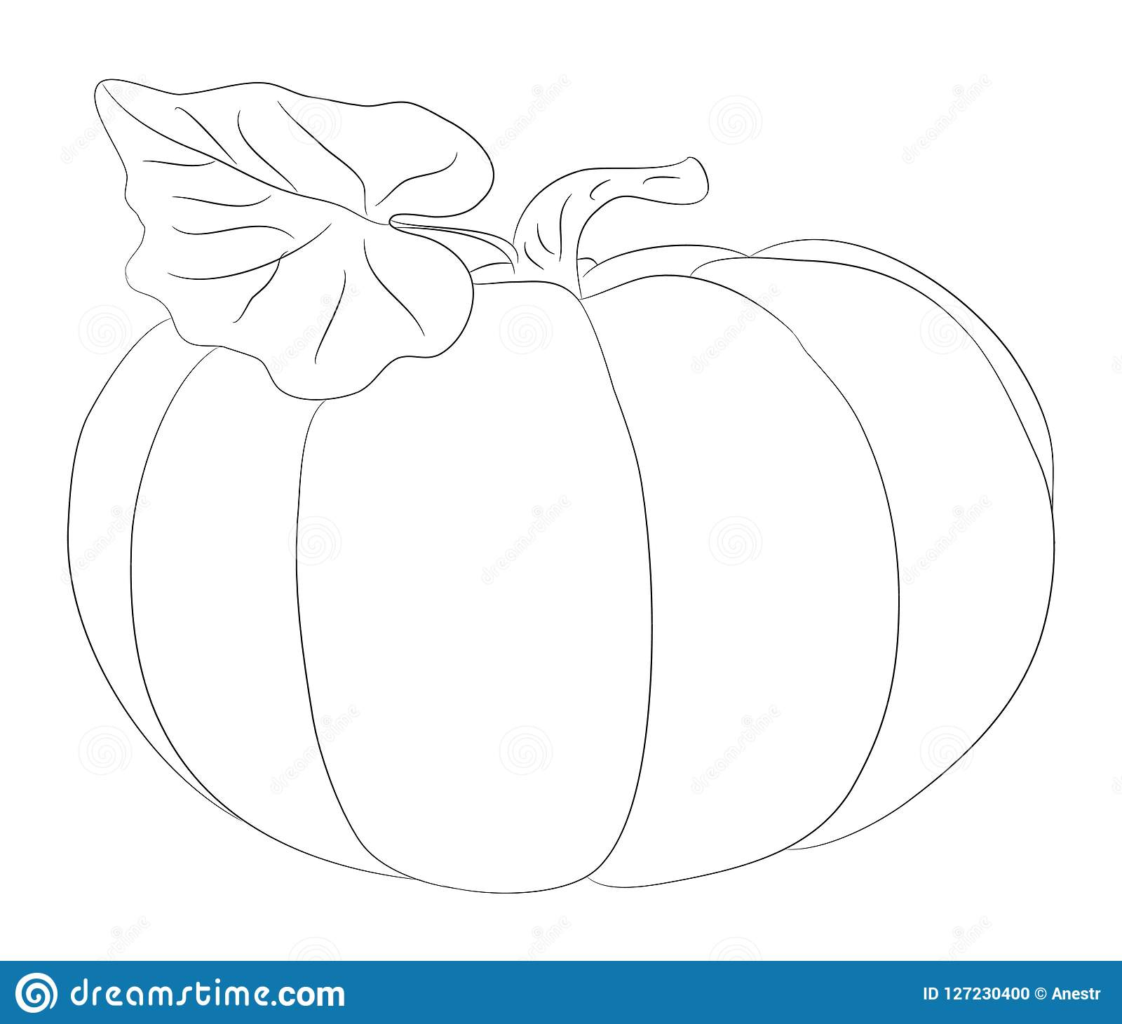 Vegetables And Fruits Drawing Lines Vector Stock Vector