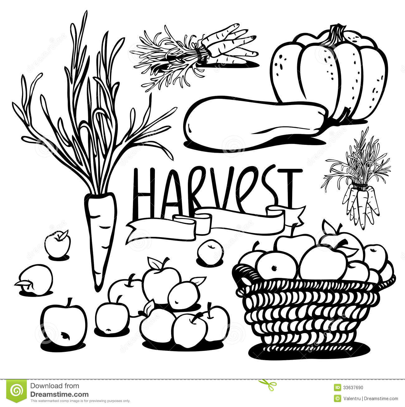 Vegetable and fruits stock vector. Image of nature ...