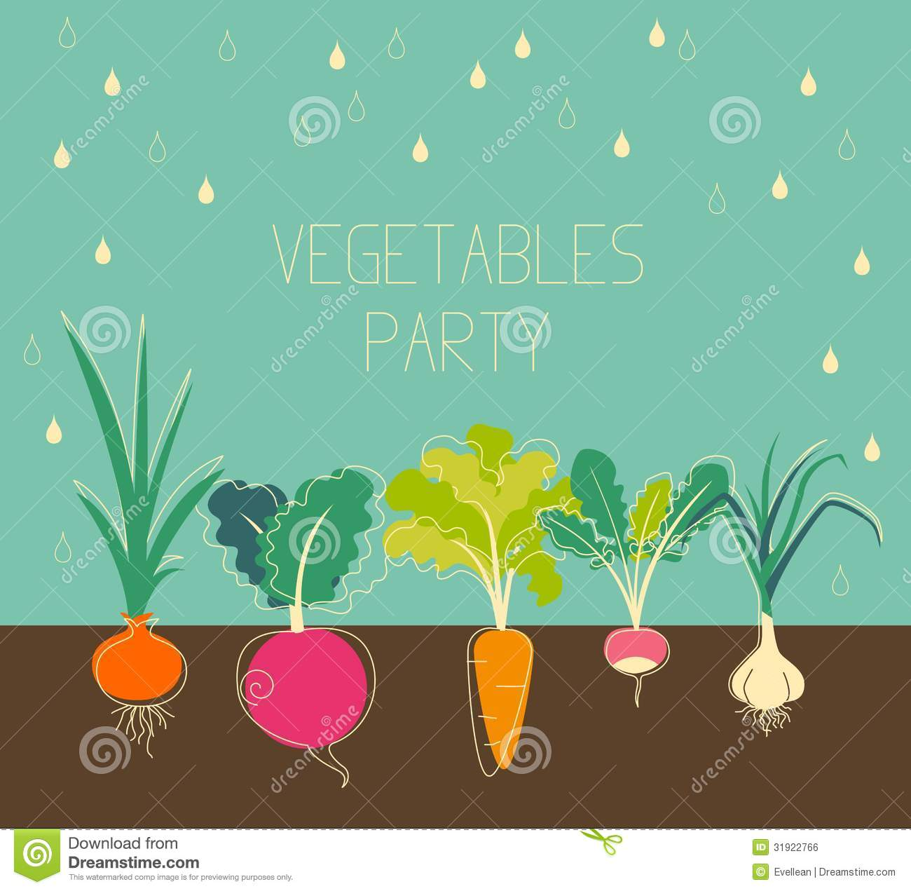 Vegetable garden graphic - Banner Garden Root Vegetables