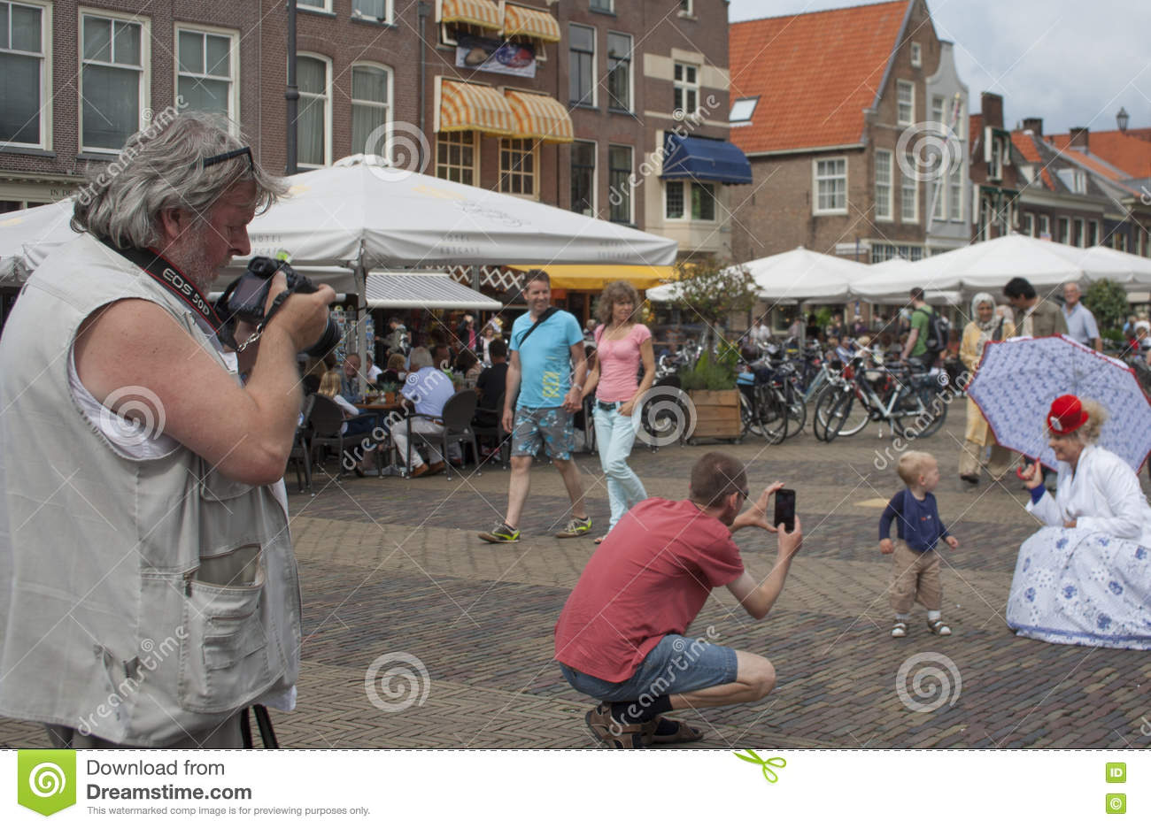 vegetables parade is a yearly event in the city of delft editorial