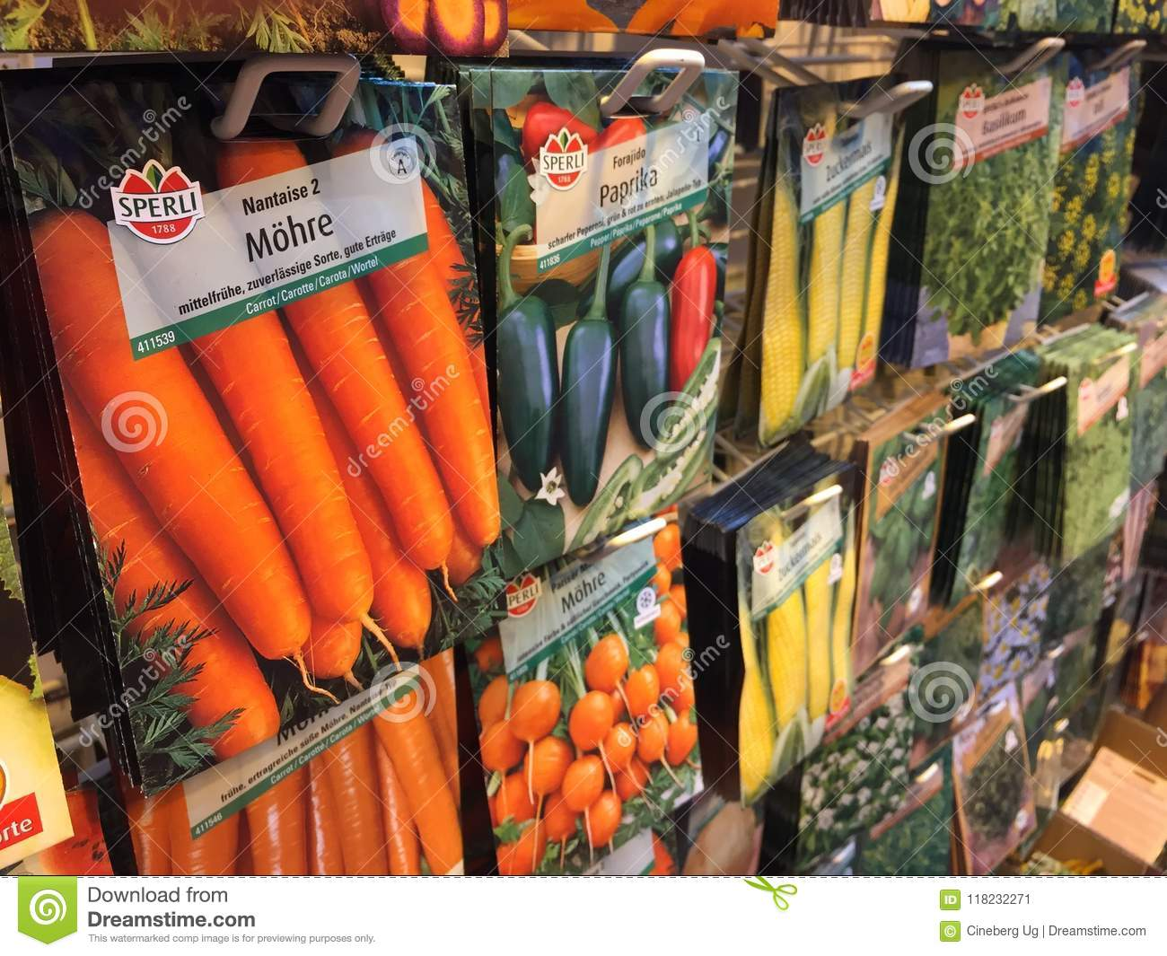 Vegetables seeds packets editorial photo  Image of choice - 118232271