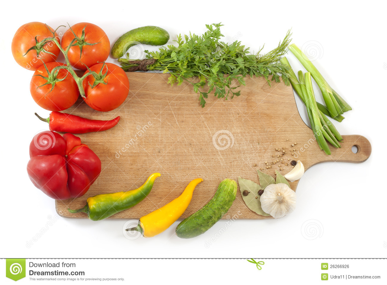 vegetables and spices border royalty free stock image