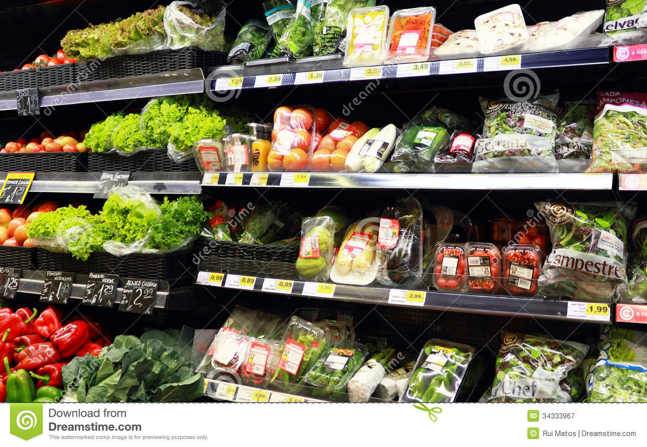 Vegetables at the supermarket