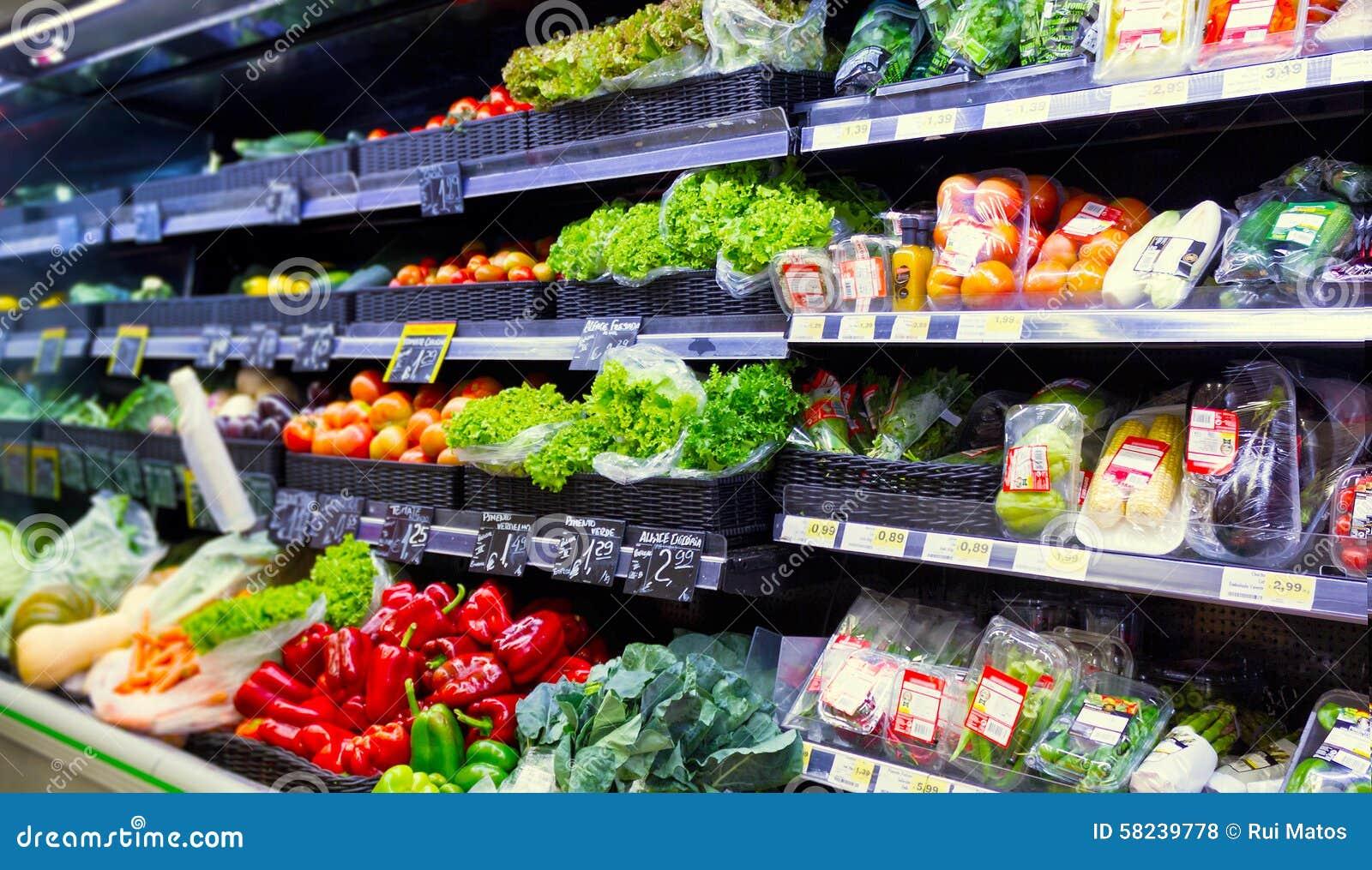 Vegetables at the supermarket