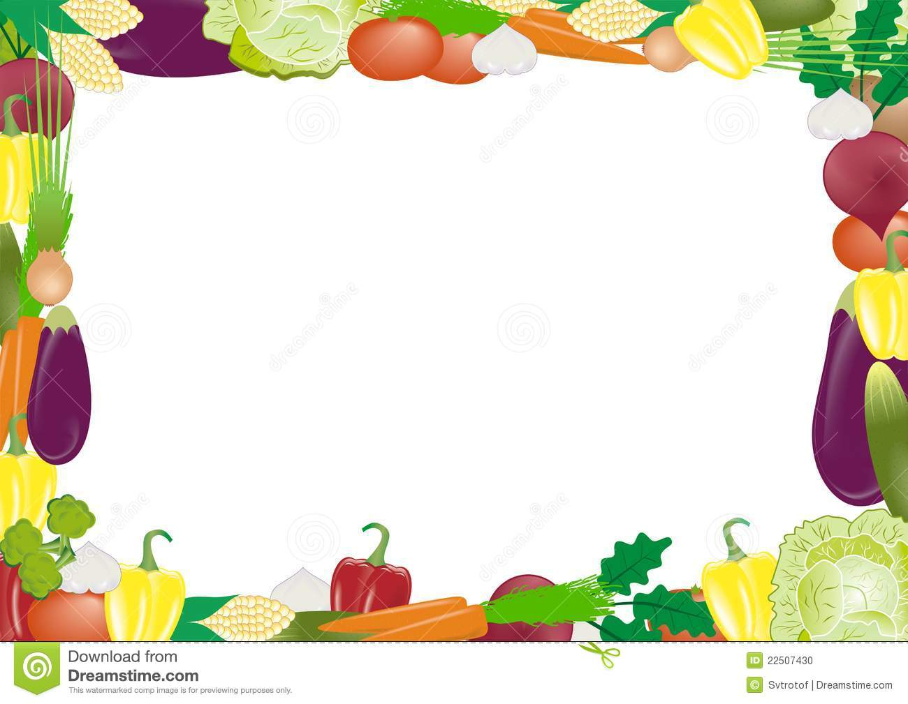 vegetables vector frame stock photo image 22507430 Food Border Templates Herb Border