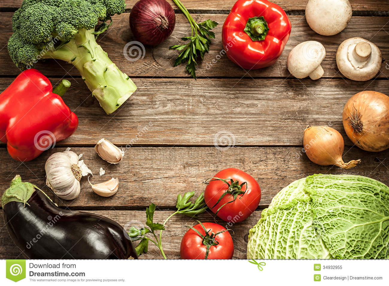 Vegetables On Vintage Wood Background - Autumn Harvest ...