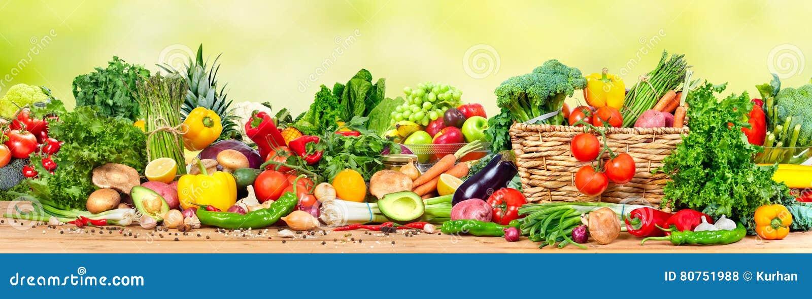 Vegetais e frutas orgânicos