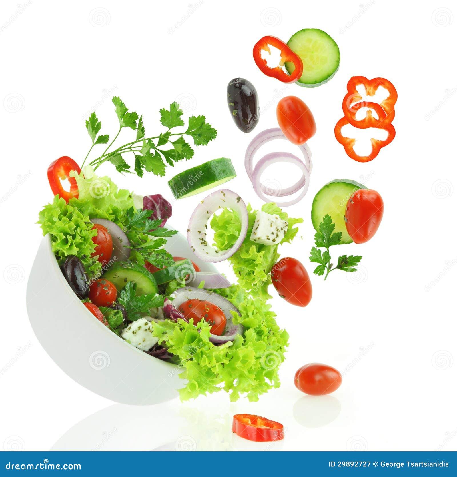 Vegetais misturados frescos
