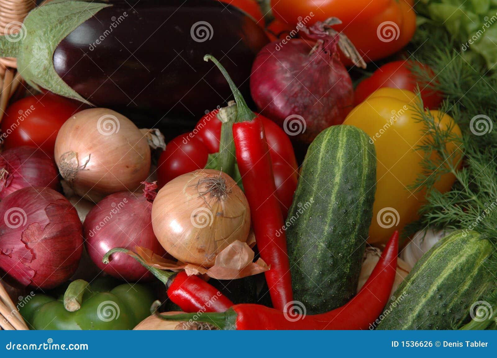 Vegetais na cesta