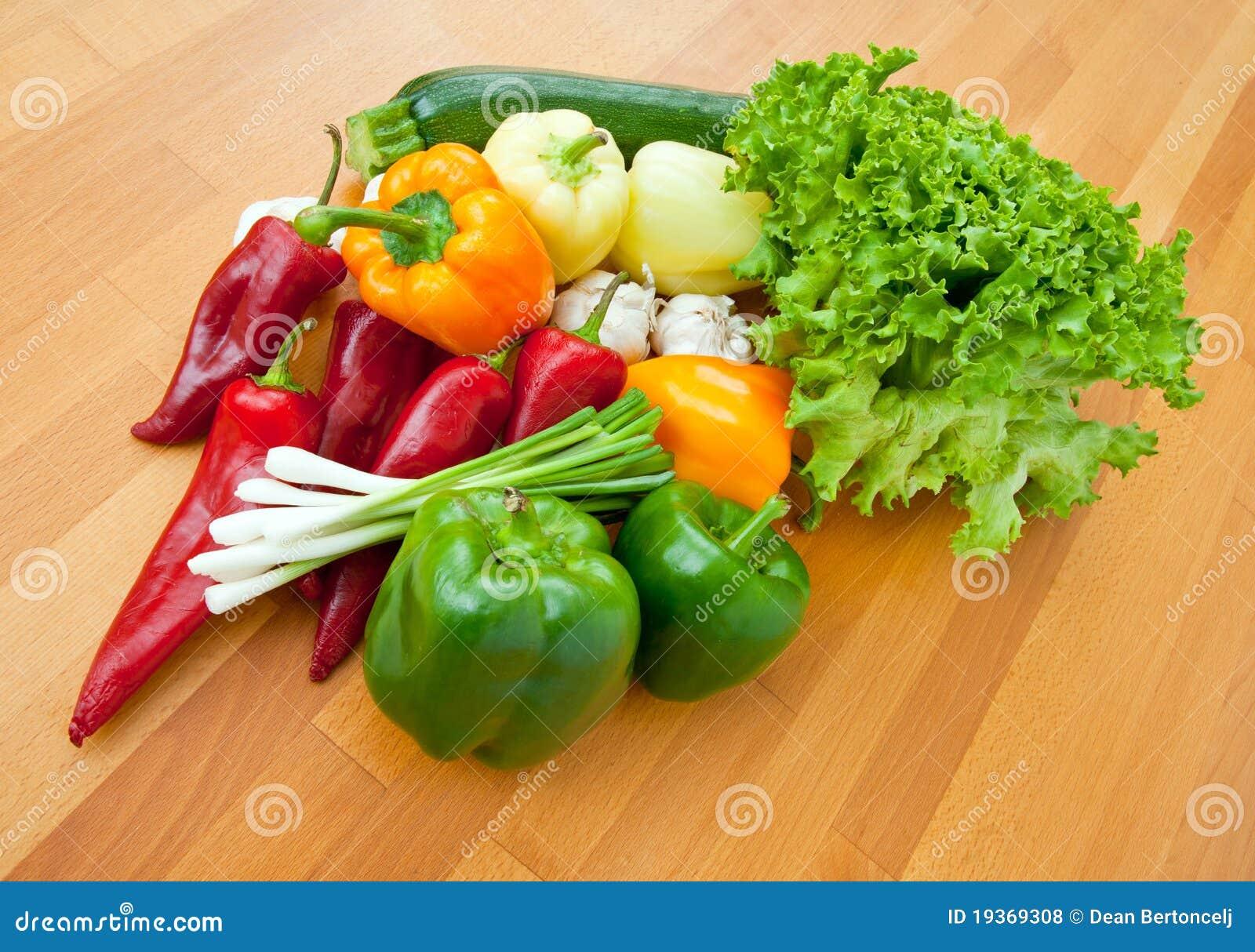 Vegetais na tabela