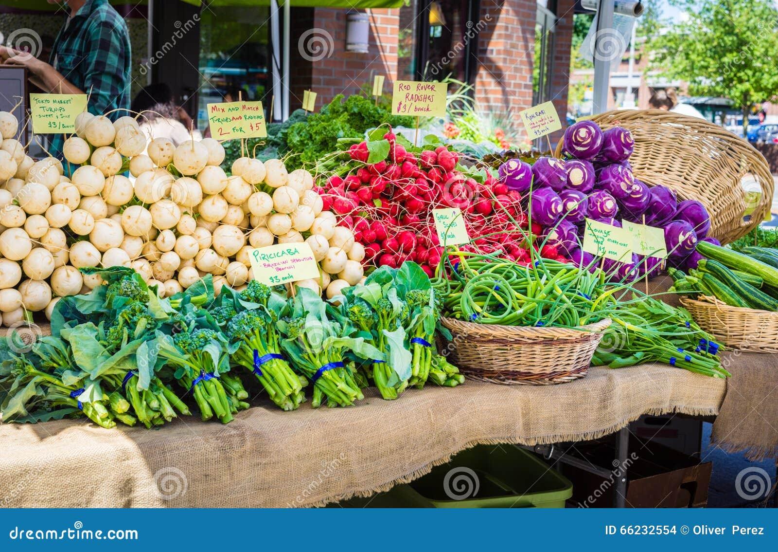 Vegetais no mercado dos fazendeiros
